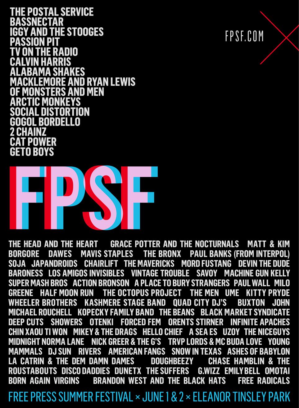 FPSF-lineup